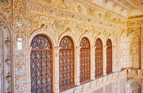 Details of wall decoration of Tabatabaei House, Kashan, Iran