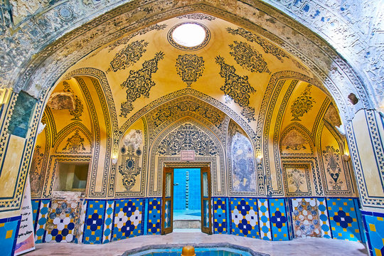 In historical Hammam of Kashan, Iran