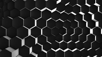 3d illustration, abstract geometric background