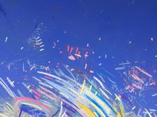 Ultramarine pastel background. Colorful charcoal texture.