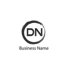 Initial Letter DN Logo Template Design
