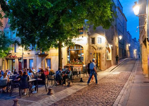 Ville de Metz, Centre-Ville, Place Jeanne d'Arc par Nuit
