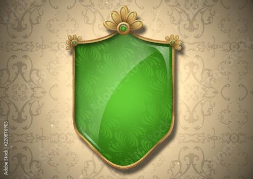 Blank Decorative Shield Crest