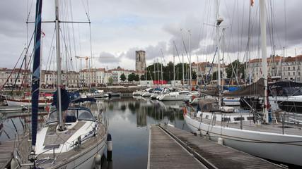 La Rochelle, Frankreich, Yachten im Alten Hafen, Vieux Port