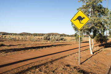 Australian Kangaroo Sign (Alice Springs)