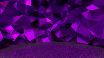 Purple, metallic background. 3D illustrator, 3D rendering.
