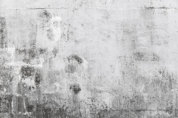 Fototapete - Grungy concrete wall with white paint brush strokes
