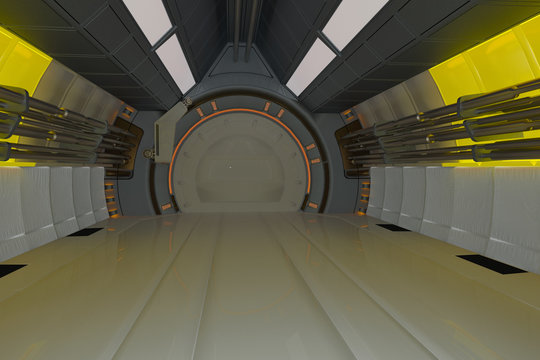 space ship corridor inside out