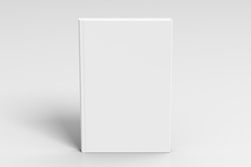 Verical blank book cover mockup