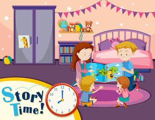 Story time family reading