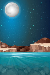 Beautiful night water scene