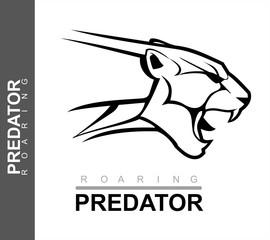 jaguar, roaring cougar, roaring puma.