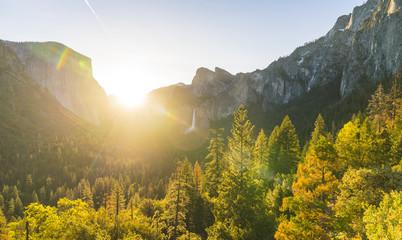 Yosemite National park at sunrise,California,usa.