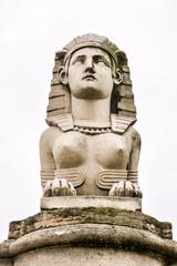 sphinx statue, Photo image a Beautiful panoramic view of Paris Metropolitan City