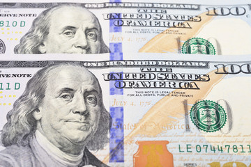 Dollar (USD) banknotes background