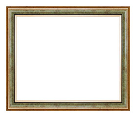 Green and golden frame