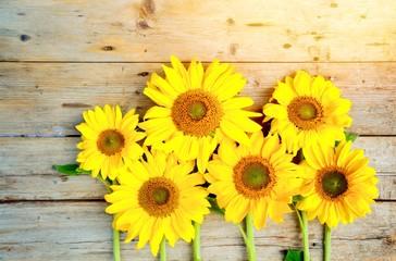 Grußkarte - Sonnenblumen
