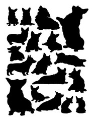 Corgi dog animal silhouette. Good use for symbol, logo, web icon, mascot, sign, or any design you want.