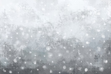 Snowing oil painting background