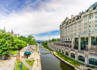 Self adhesive Wall Murals Channel View at the Rideau Canal in Ottawa - Canada