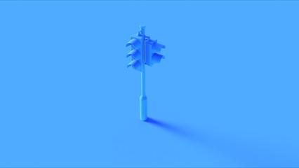 Blue Traffic Light Signals 3d illustration Fotomurales