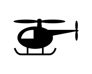 black Toy helicopter play icon vector logo icon