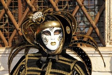 Frau im Karnevalskostüm, Venedig, Italien, Europa