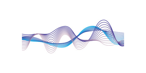 Sound waves, audio equalizer technology, vector Illustration on a white background