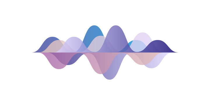 Musical pulse, sound waves, audio equalizer technology, vector Illustration on a white background
