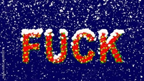 New Year text Roman numerals XXVII  Snow falls  Christmas