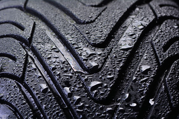 Summer tire for cars texture
