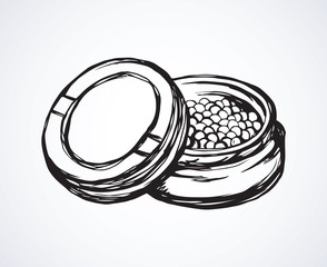 Caviar. Vector drawing