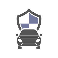 Car insurance sign icon. Protection symbol. Flat icon