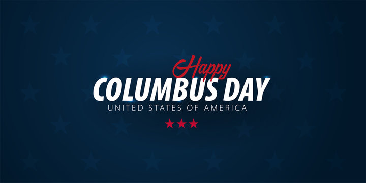 Columbus Day sale promotion, advertising, poster, banner, template with American flag. Columbus day wallpaper. Voucher discount.