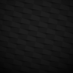 Black paper textured background with geometric pattern.