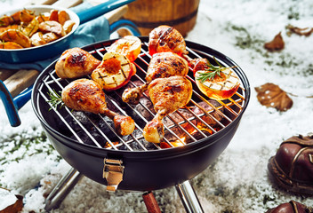 Delicious spicy marinated chicken legs