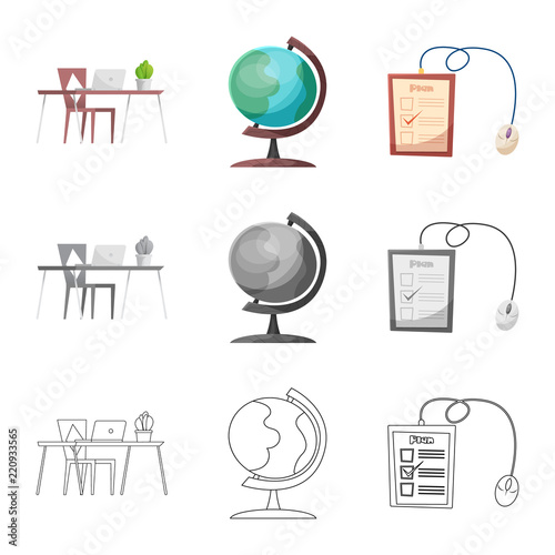 Isolated Object Of Education And Learning Symbol Set Of Education
