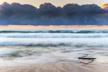 Unde the Cloudbank Sunrise Seascape