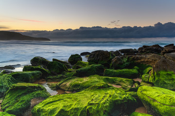 Mossy Green Sunrise Seascape