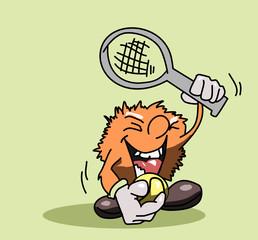 Plezier met tennis spel