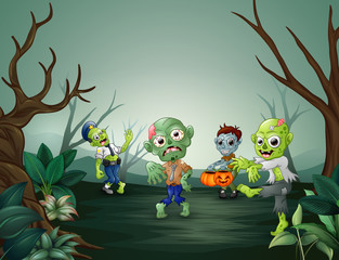 Little cartoon zombies are frightening