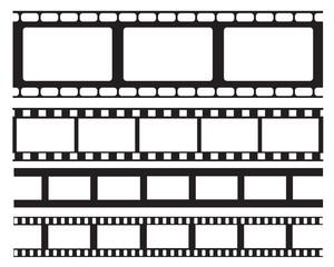 Set of old retro vntage film strip frame, vector illustration.Cinema frame. Movie tape. flat isolated on white background. Use for wed,banner,poster