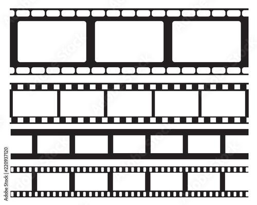 Set of old retro vntage film strip frame, vector illustration.Cinema ...