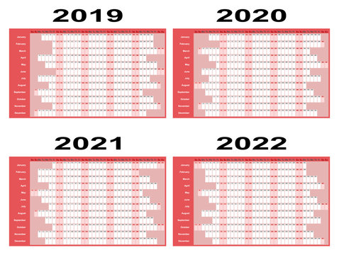 Year Planners 2019 Onwards