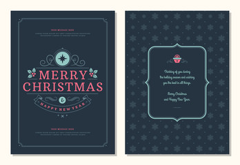 Christmas greeting card design template.