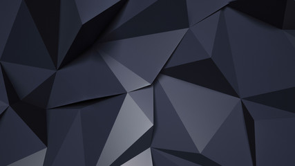 Black gray crystal background. 3d illustration, 3d rendering.