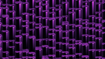 Purple hexagon background. 3d illustration, 3d rendering.