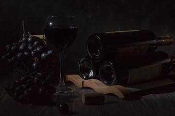 Wine in the dark.