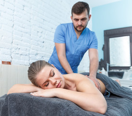 Relaxing massage for young woman