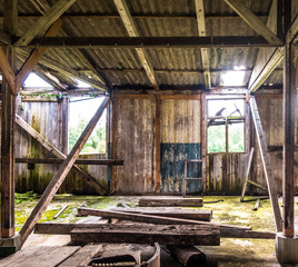 old wooden storehouse